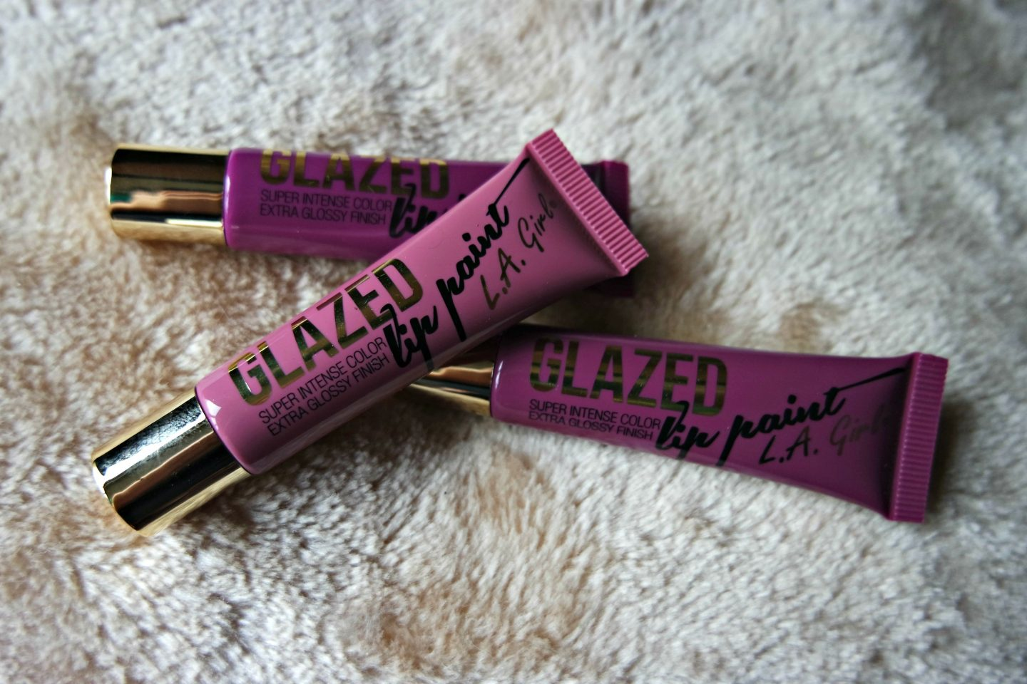 L.A. Girl Glazed Lip Paints in Blushing, Seduce and Daring