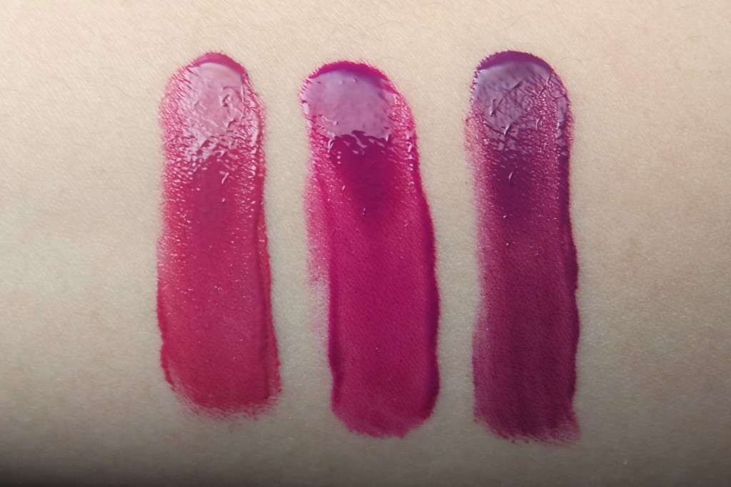 LA Girl Lip Paint Blushing Seduce Daring Swatches