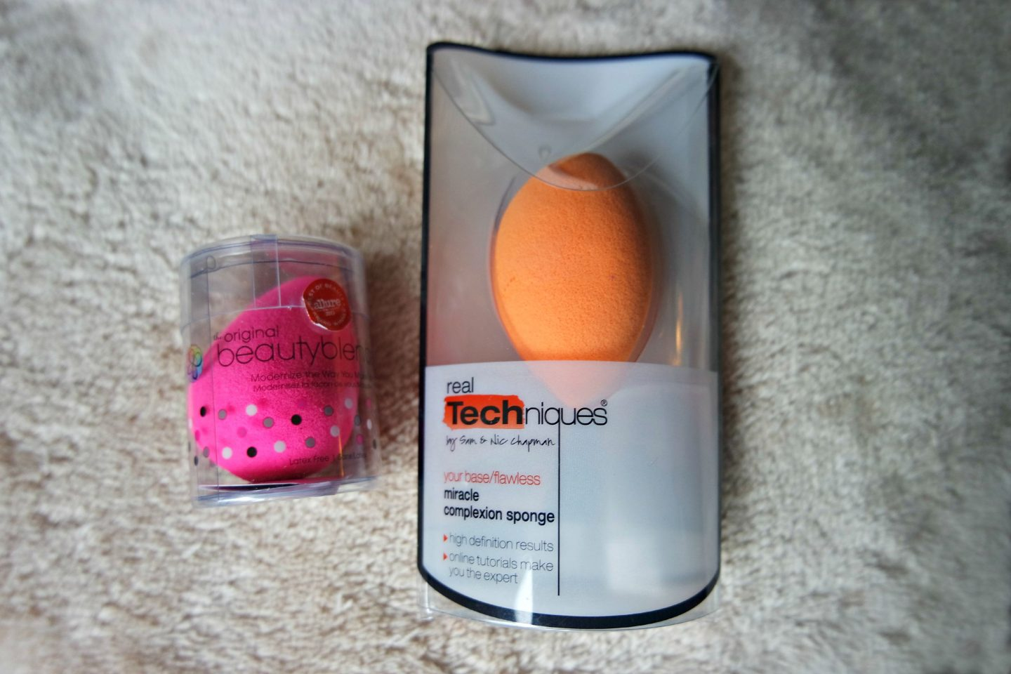 Original Beautyblender vs Real Techniques Miracle Complexion Sponge