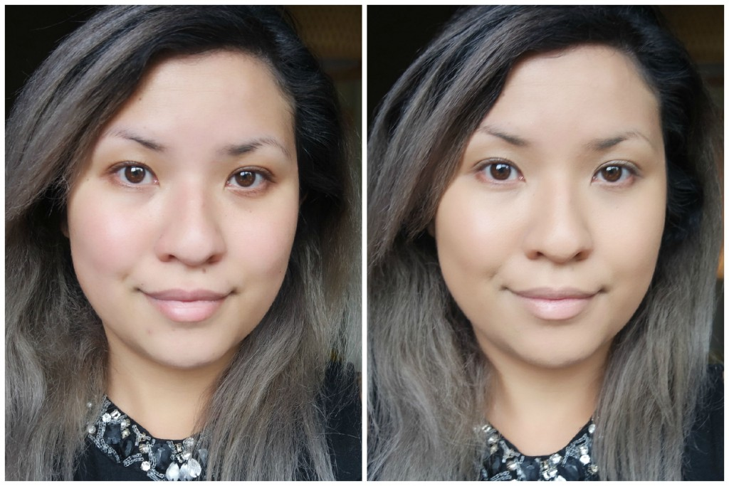 too faced concealer before and after. before / after too faced born this way foundation in sand concealer and o