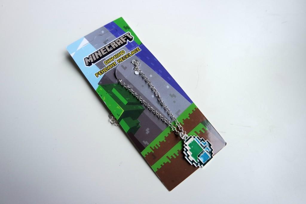 Gamer Girl Monthly Minecraft Diamond Pendant Necklace 01