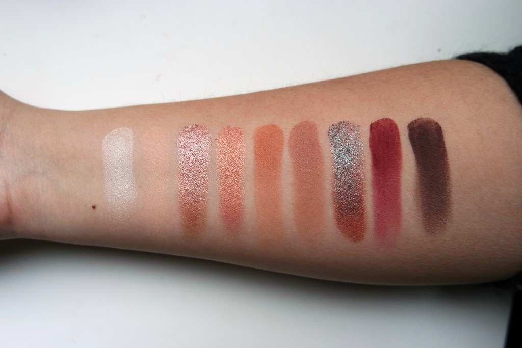 MannyMUA x Makeup Geek Palette Swatches
