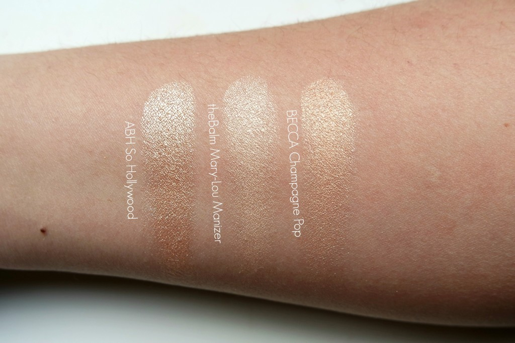 Anastasia Beverly HIlls So Hollywood Comparison Swatches