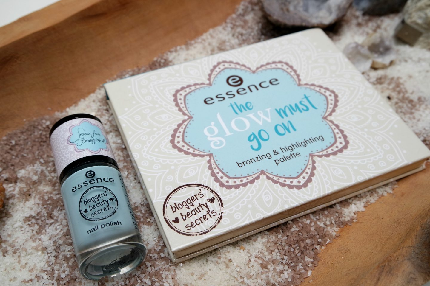 Beautylab x Essence The Glow Must Go On Palette + Shine Bright Nail polish