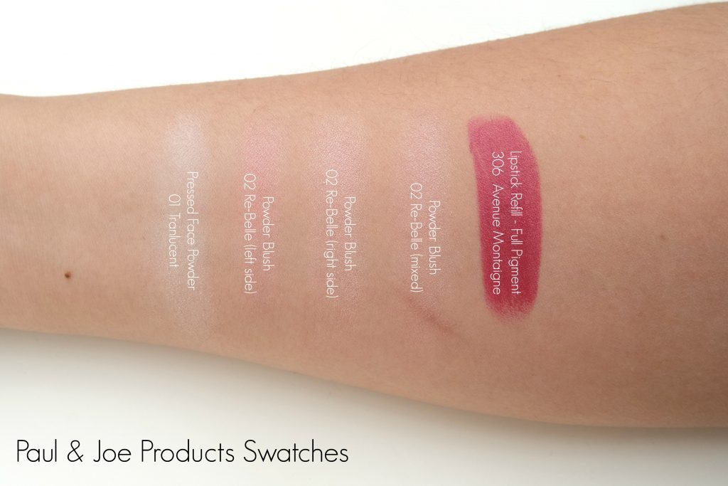 Paul & Joe Beaute Products Swatches 01