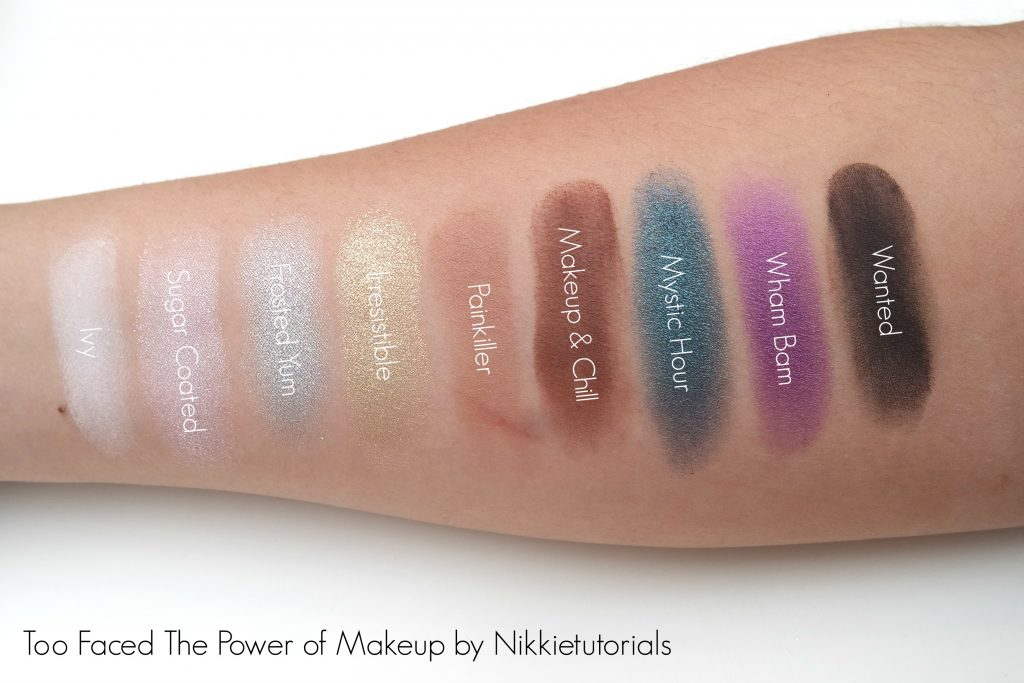 Toofaced x Nikkietutorials The Power of Makeup Palette Swatches 01