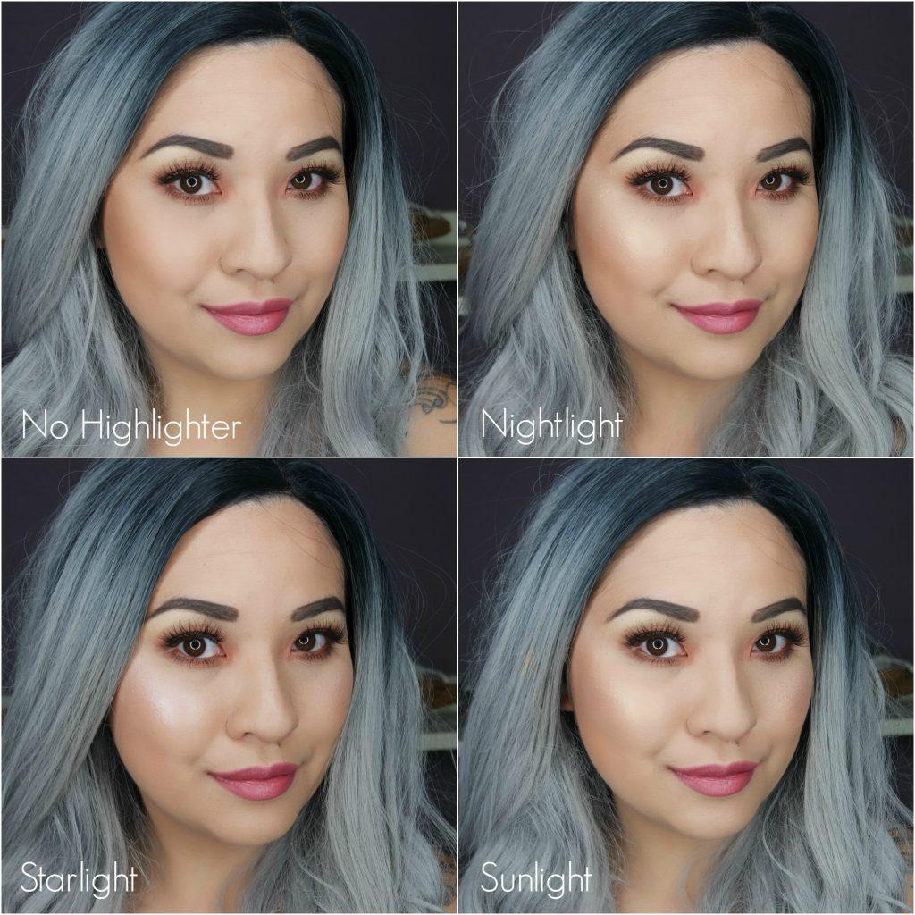 Makeupgeek x Kathleen Lights Highlighter Palette Collage