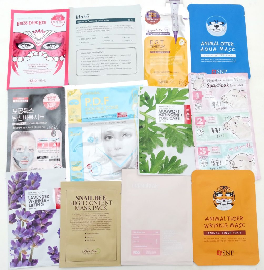 Korean Beauty Store Ippo Cosmetics - Sheet Masks Review