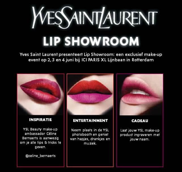 Yves Saint Laurent Lip Showroom