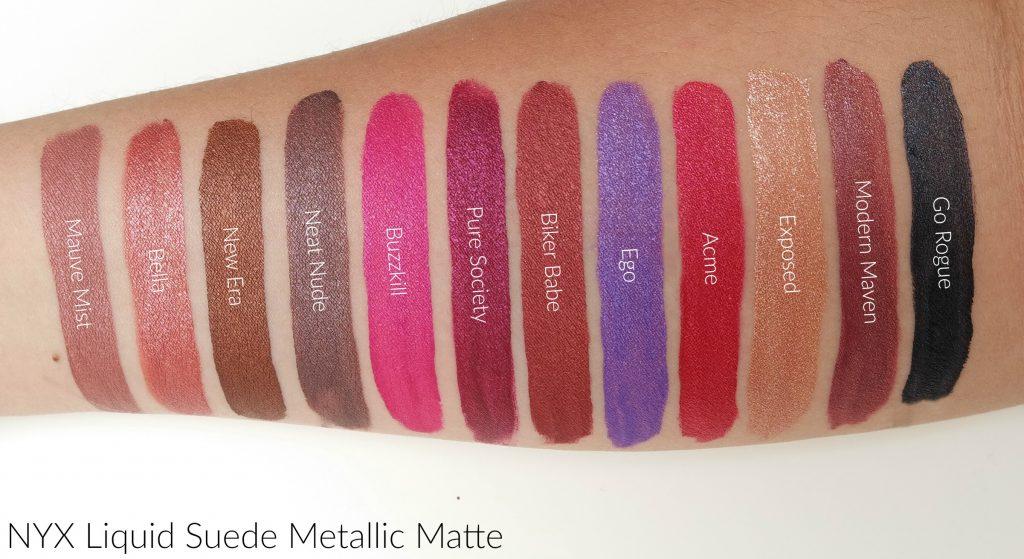 Nyx Professional Makeup Liquid Suede Metallic Matte Lipsticks The