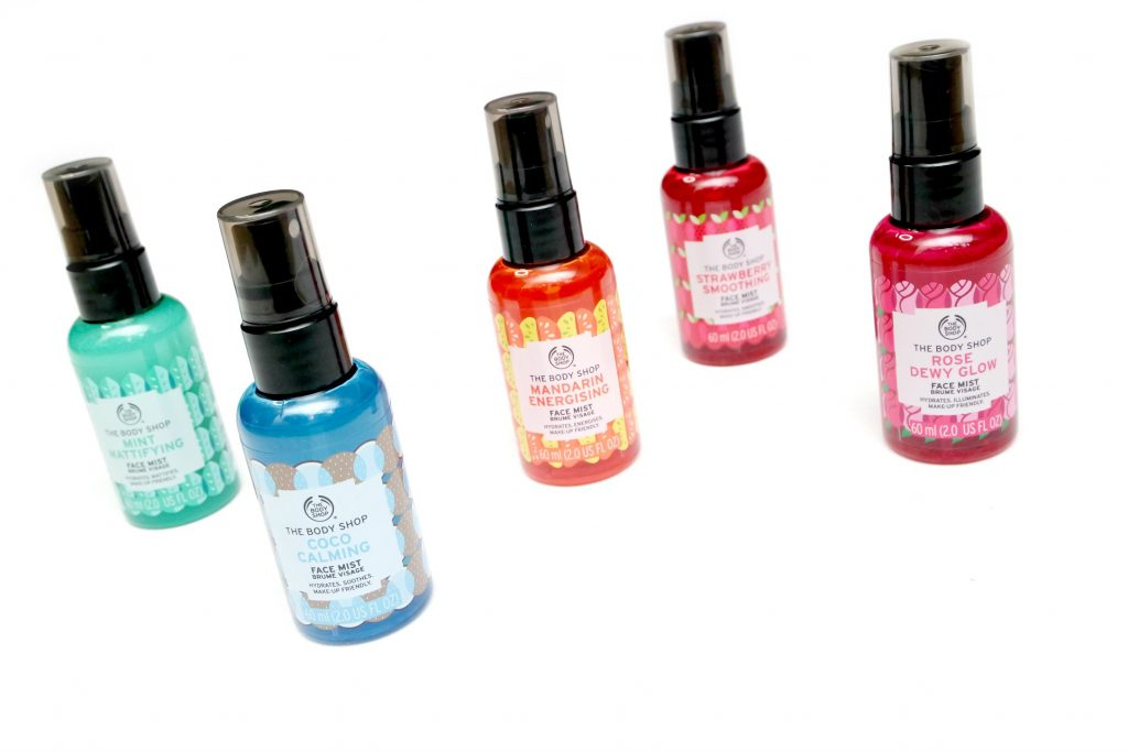 body shop face mist