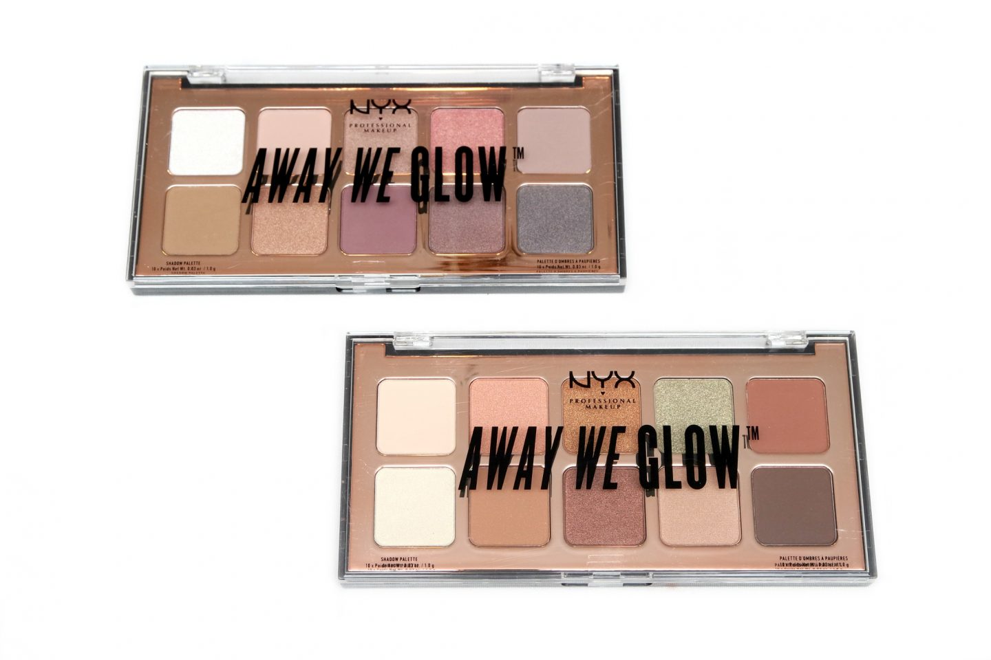 NYX Professional Makeup Away We Glow Shadow Palettes Review