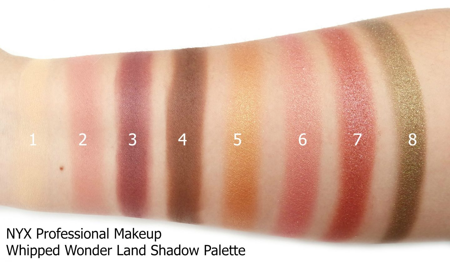 NYX Professional Makeup Whipped Wonderland Shadow Swatches