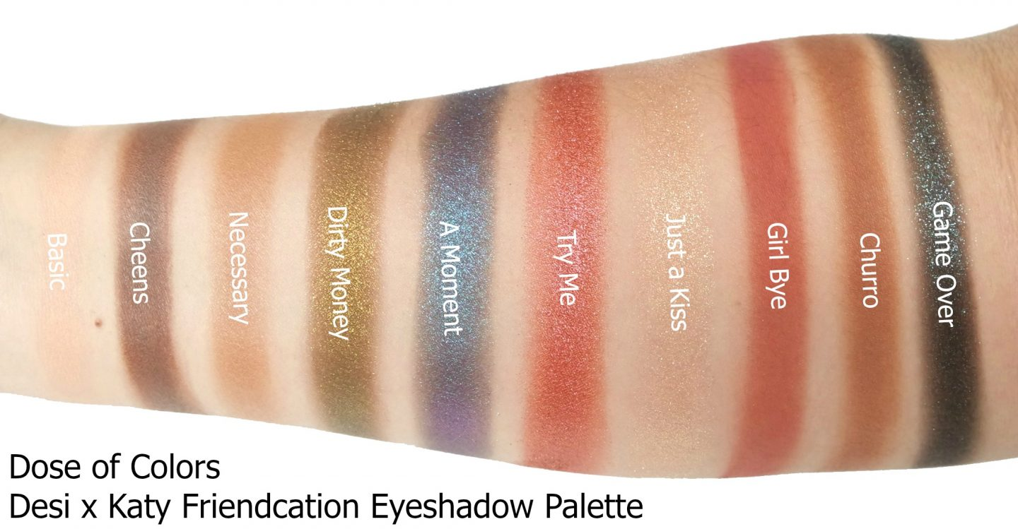 Dose Of Colors Desi X Katy Friendcation Eyeshadow Review