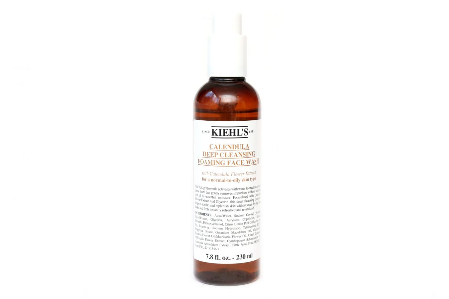 Kiehl's Calendula Deep Cleansing Foaming Face Wash Review