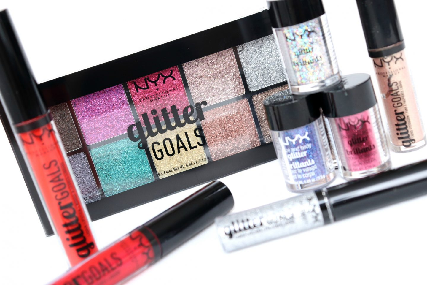 Sparkle with NYX Professional Makeup Glitter Goals