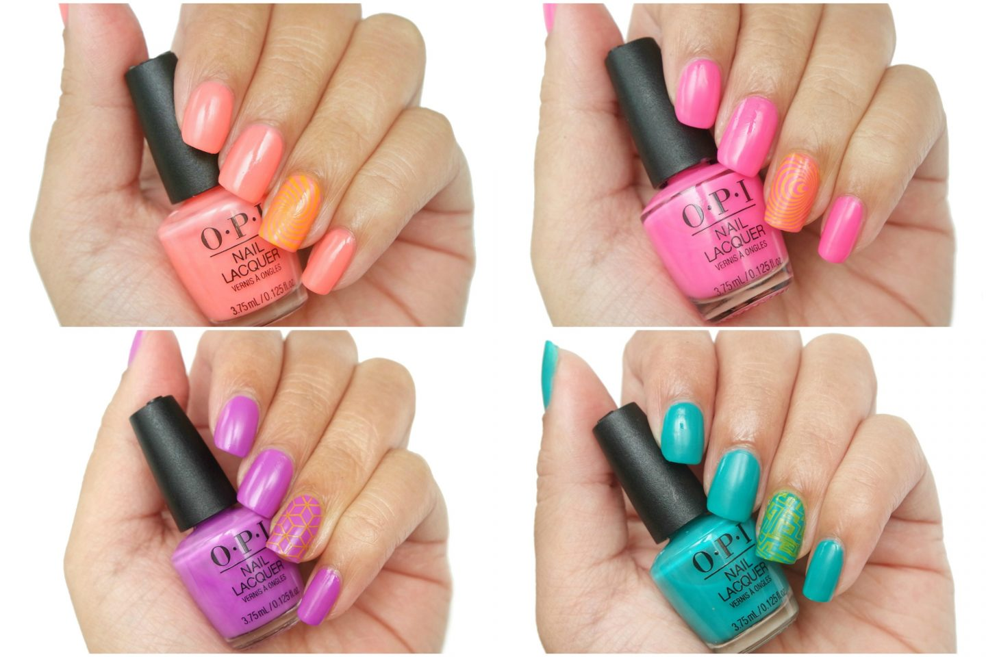 OPI Neon Color Cube Swatches