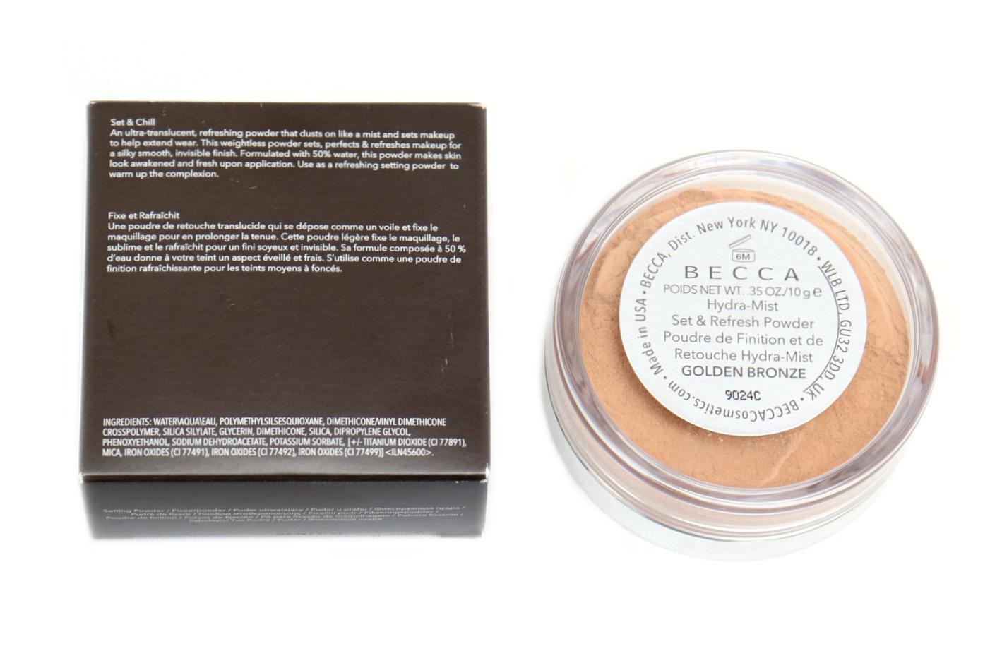 BECCA Hydra Mist Set & Refresh Powder Review