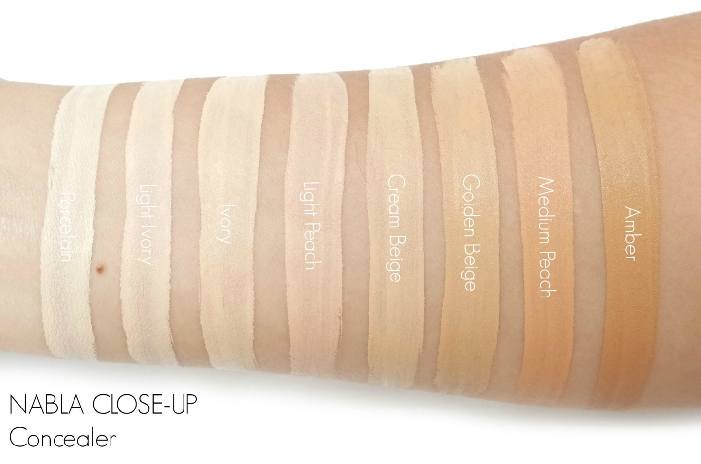 NABLA CLOSE-UP Concealer Swatches