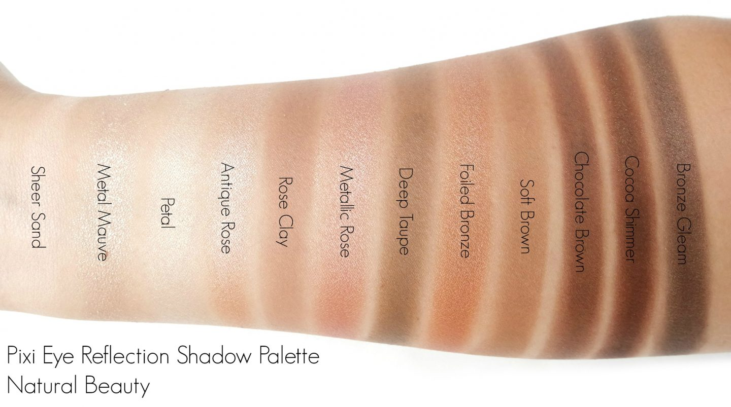 Pixi Eye Reflection Shadow Palette in Natural Beauty Swatches