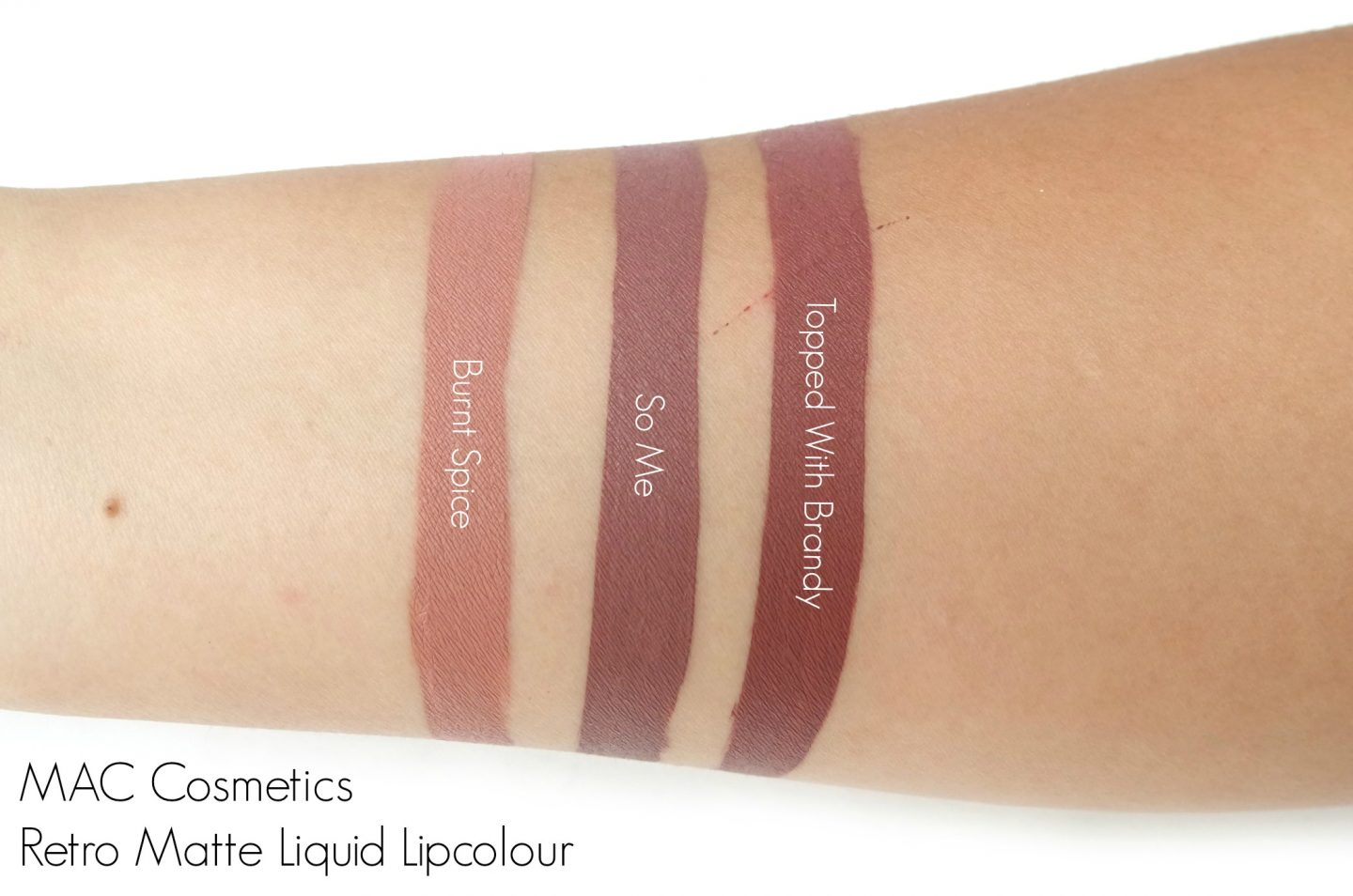 MAC Cosmetics Retro Matte Liquid Lipcolour Swatches