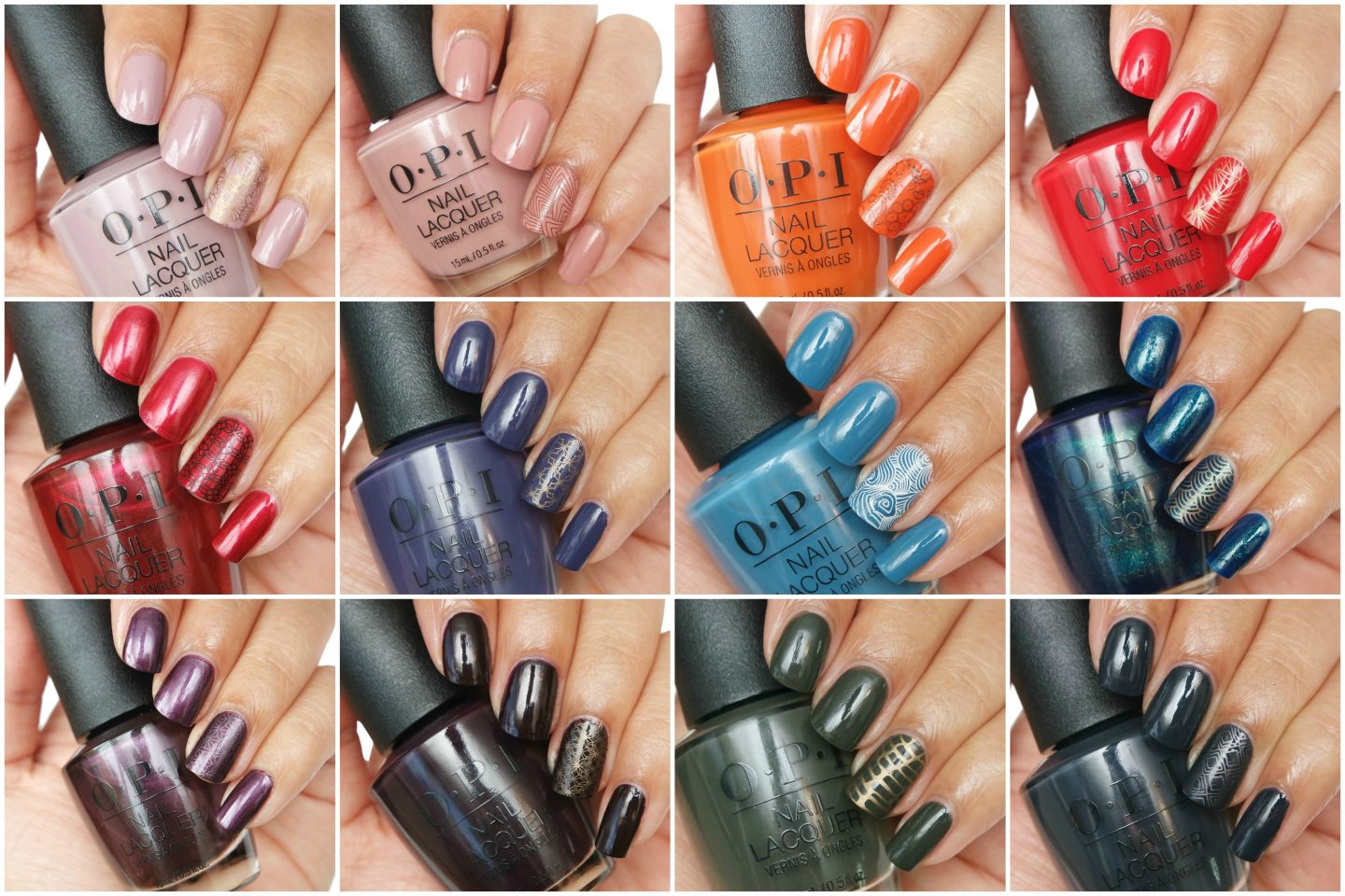 OPI Scotland Collection - Fall/Winter 2019 Swatches