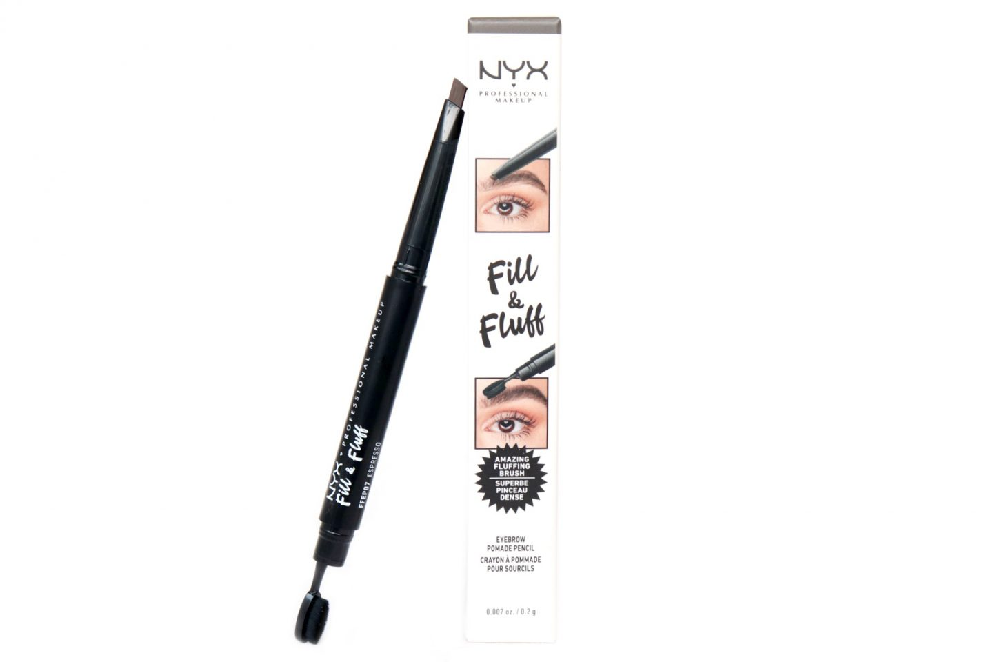 NYX Professional Makeup Fill & Fluff Eyebrow Pomade Pencil Review